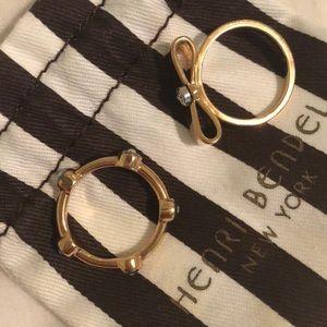 Henri Bendel bow ring set